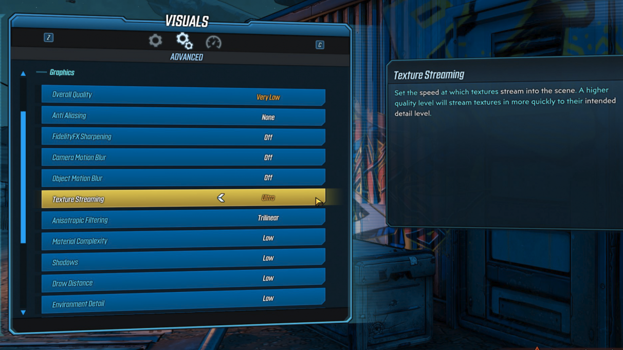 Borderlands 3 lag & stuttering guide - texture streaming