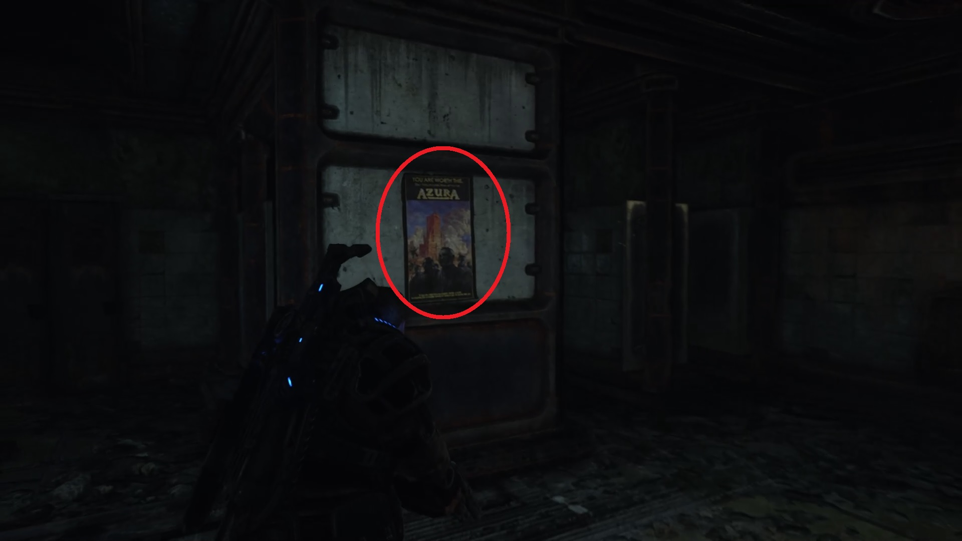 Gears 5 - Wellness Advisory Poster location