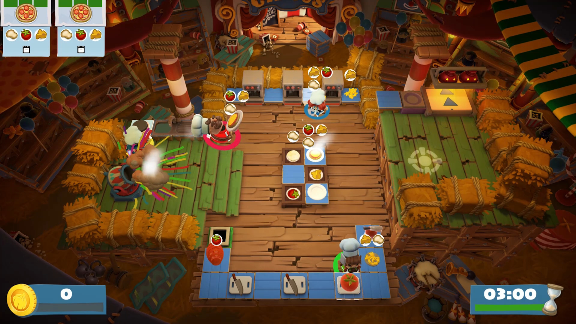 Overcooked 2 goes to the circus in its latest DLC