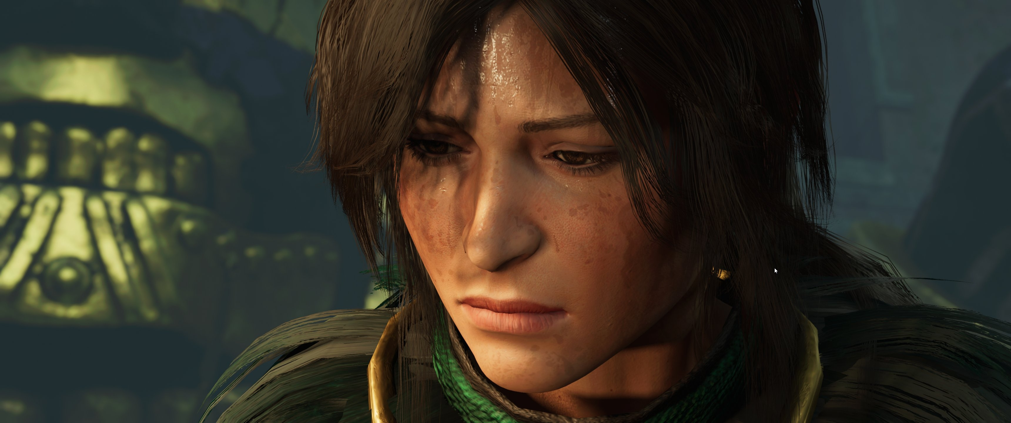 Lara thinking about what she's done.