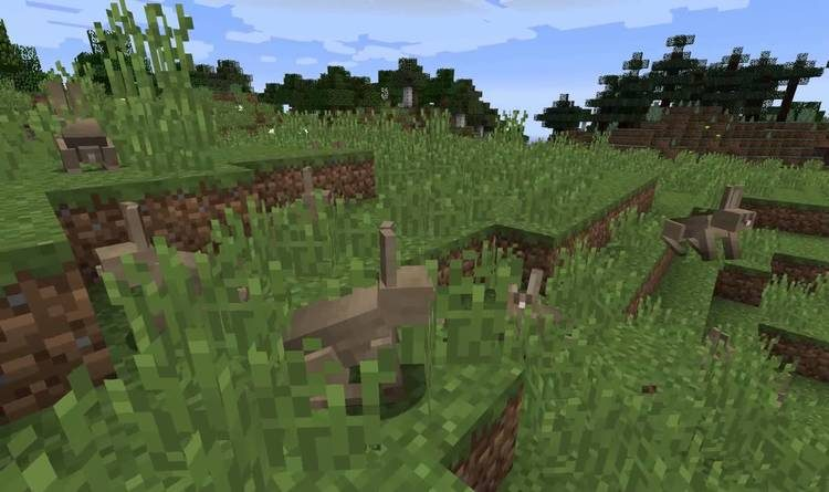 Mods Minecraft 1.14 - SwingThroughGrass