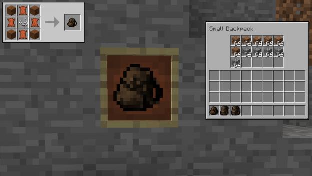 Minecraft mods 1.14 - Sacs à dos utiles