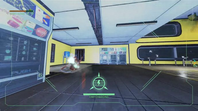 Tangkapan layar Crypto yang mengaktifkan kemampuan ultimate EMP-nya melalui drone-nya.