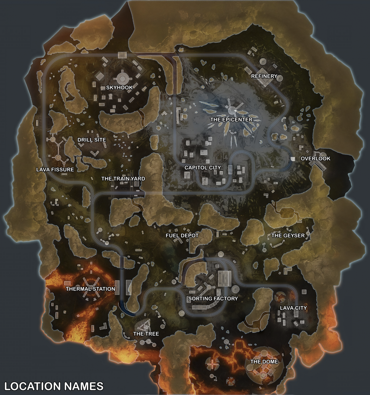 Apex Legends map guide - Worlds Edge map (Named Locations)