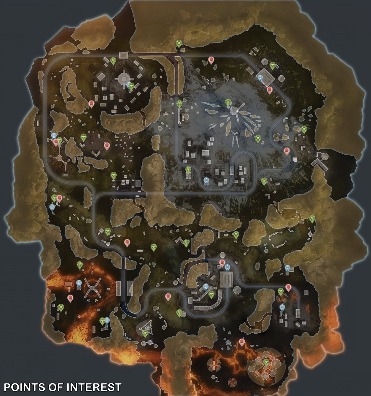 Apex Legends map guide - Worlds Edge map (Points of Interest)