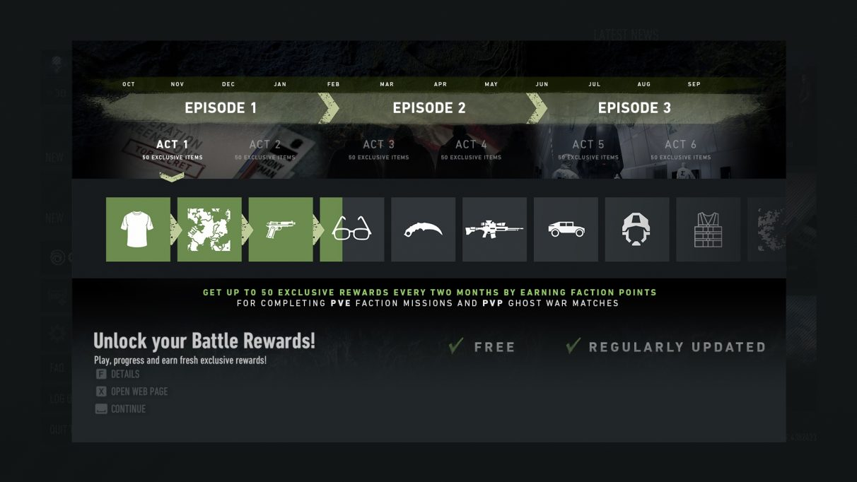 Ghost Recon Breakpoint episodes