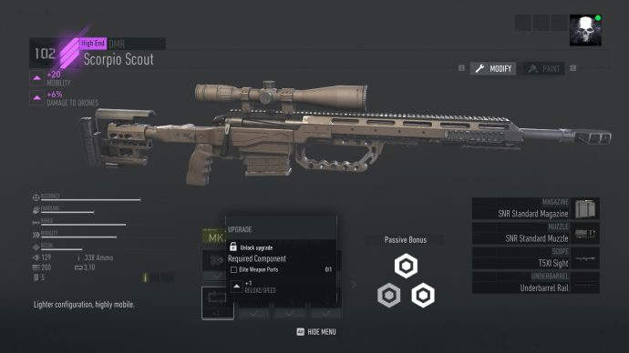 Ghost Recon Breakpoint upgraded weapon