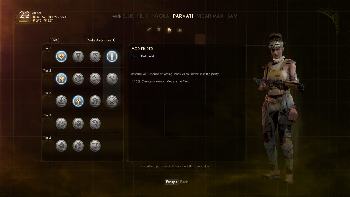 The Outer Worlds Companions - Parvati