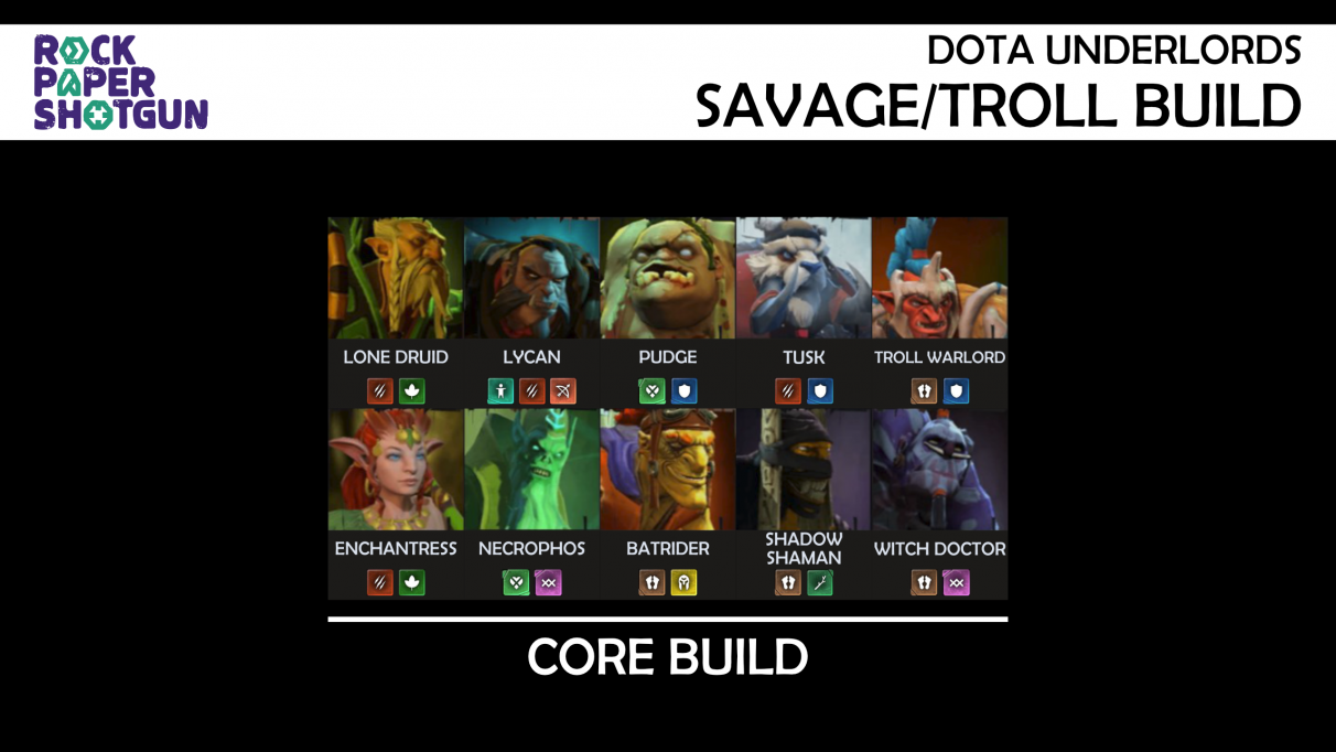Dota Underlords Builds - Savage Troll build