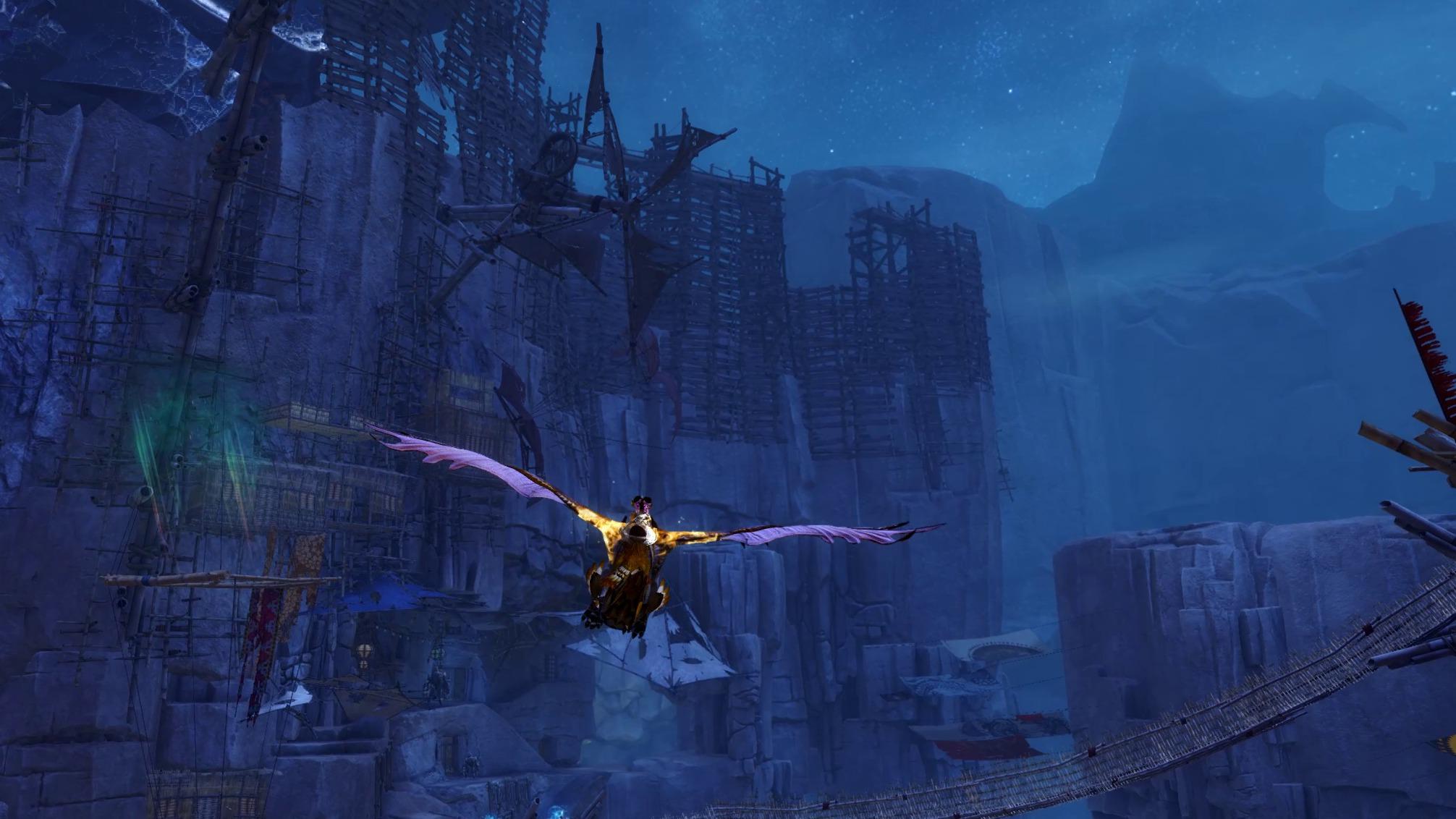 A Griffon, soaring