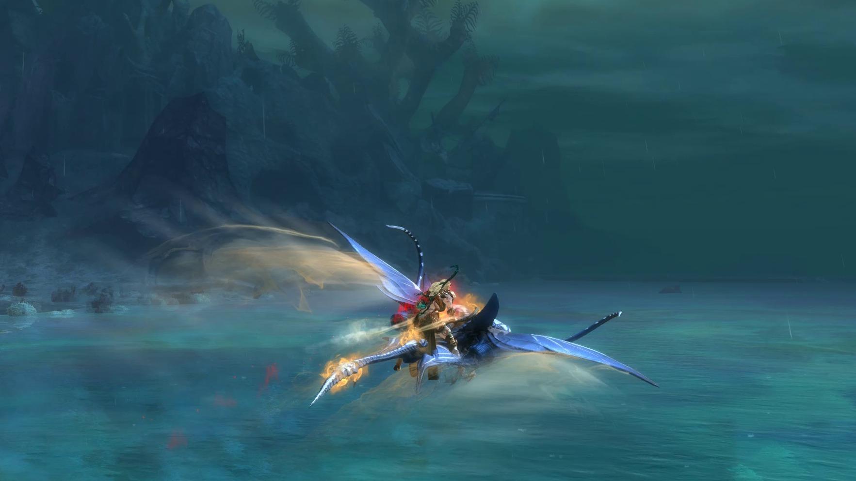 A Skimmer, skimming
