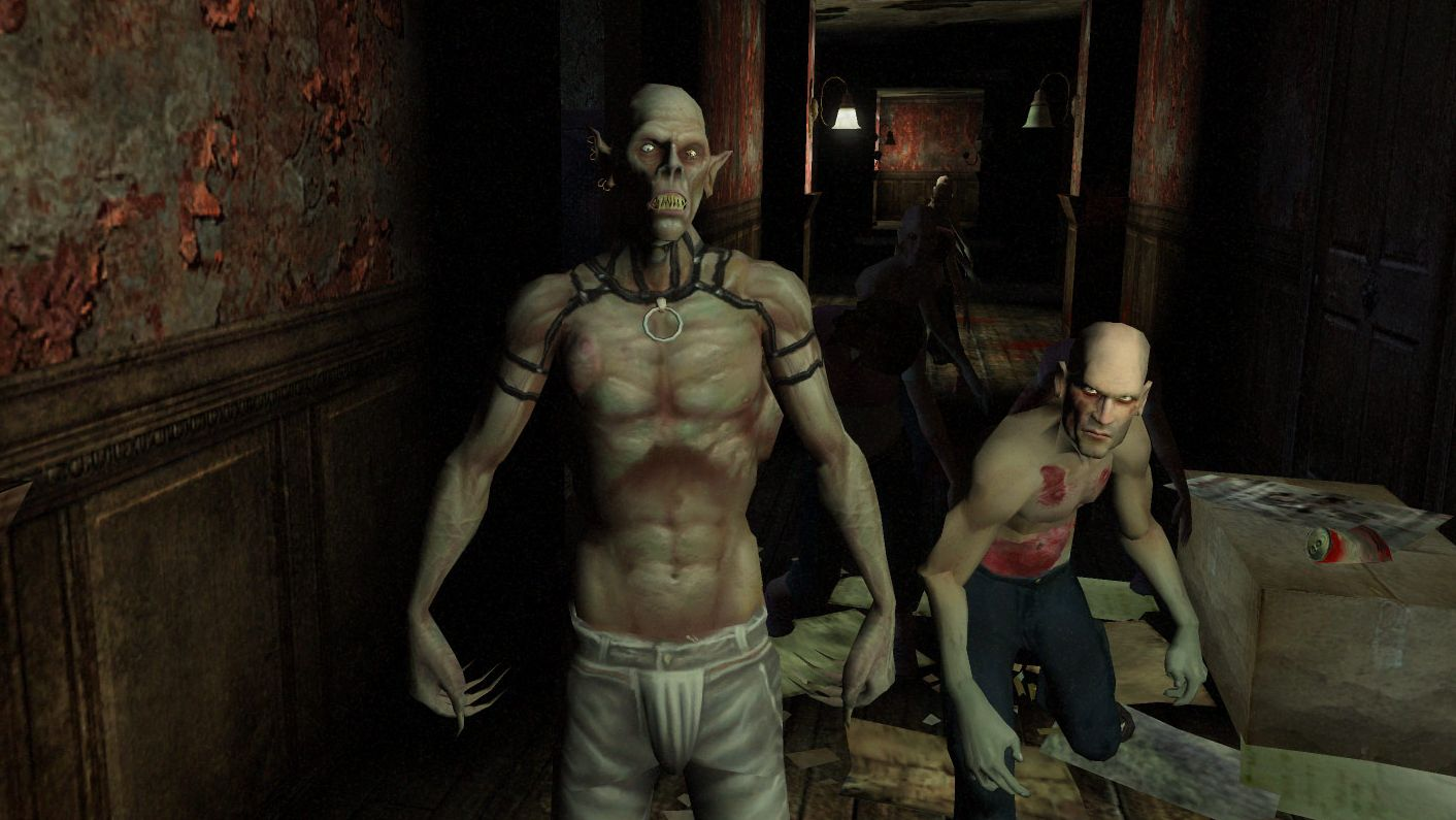 A screenshot of two vampires from Vampire The Masquerade: Bloodlines.