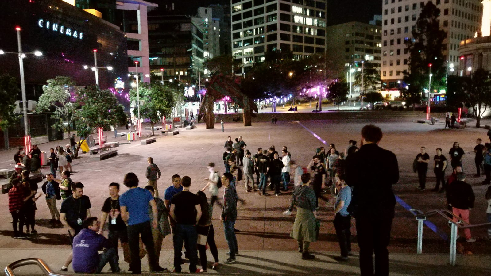The crowd make their way into the warm New Zealand evening, with many promising to meet again next time.