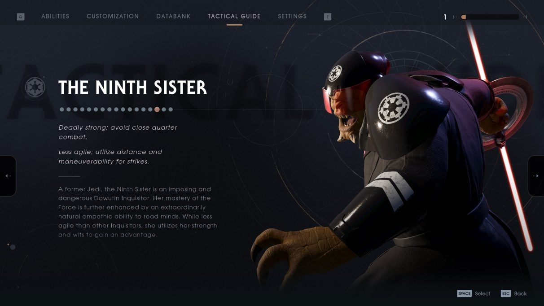 Star Wars Jedi: Fallen Order Ninth Sister - Databank entry