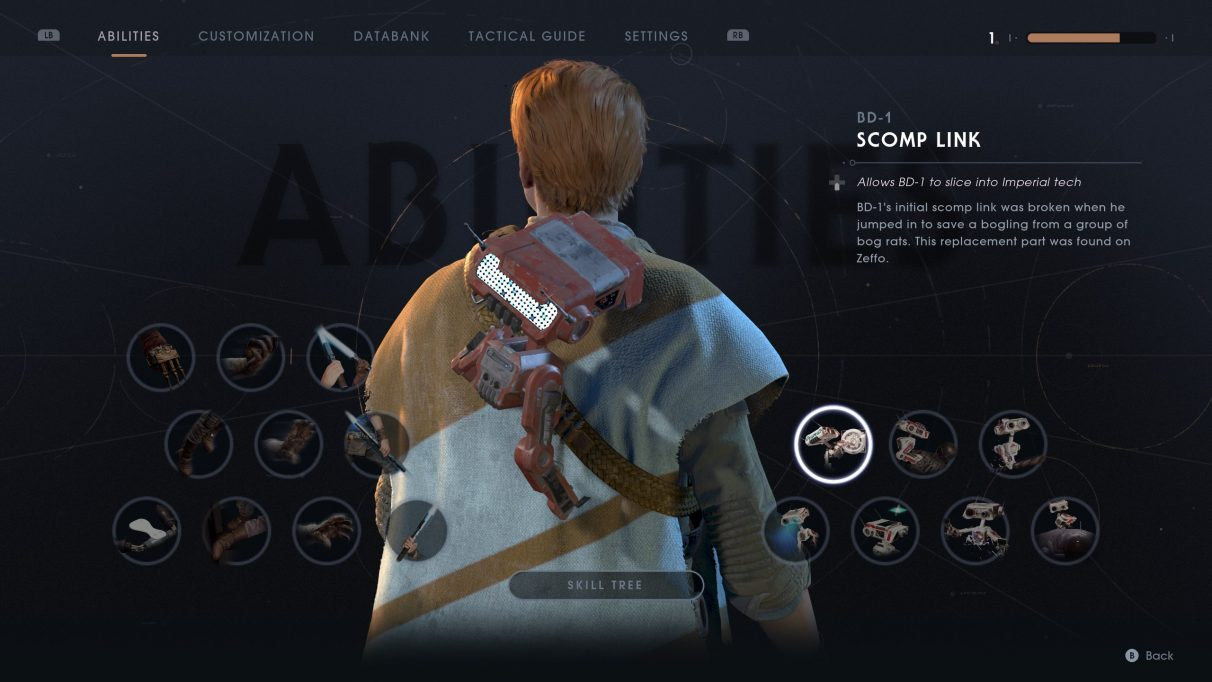Star Wars Jedi: Fallen Order Scomp Link guide