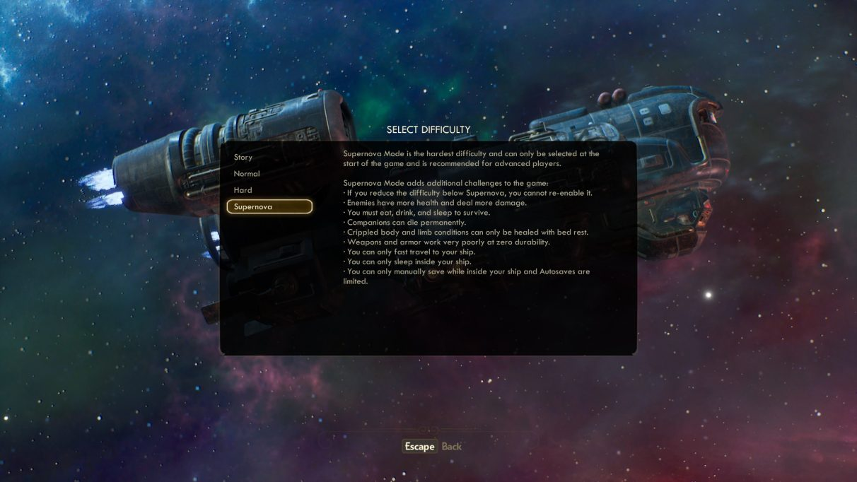The Outer Worlds supernova tips