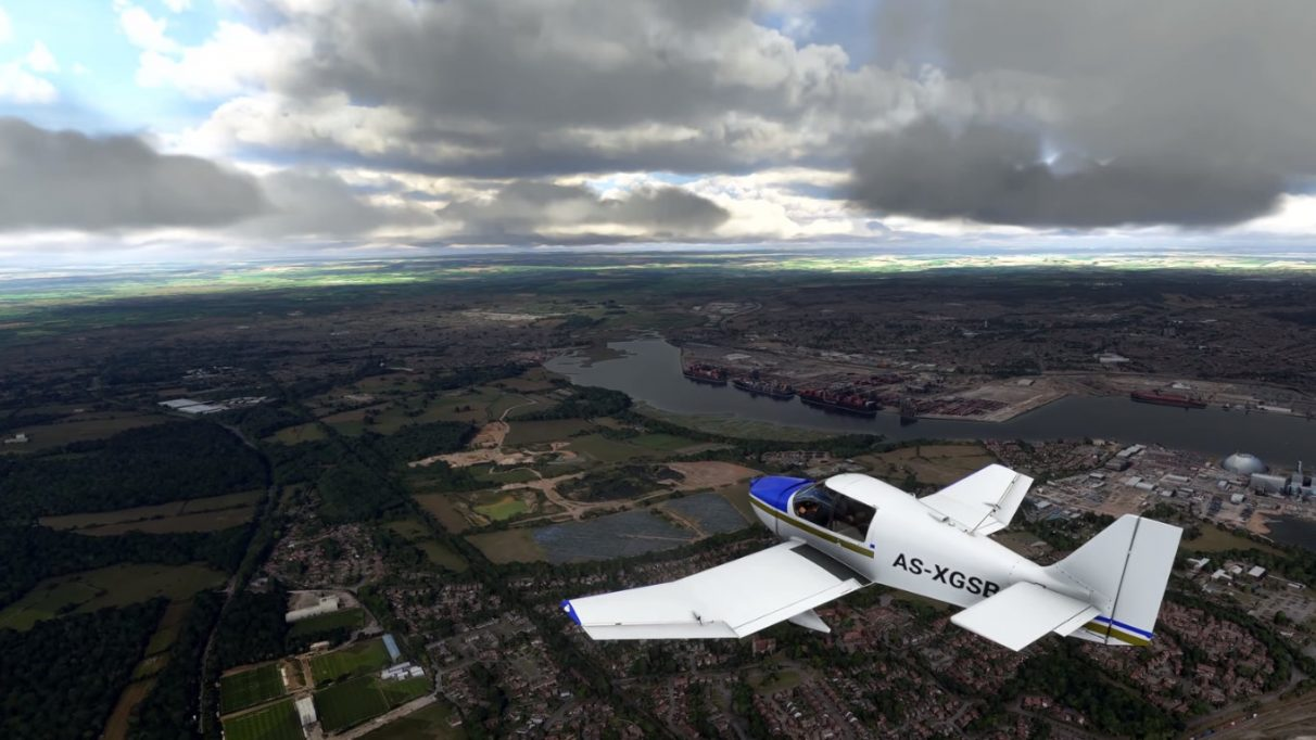 The cities in Microsoft Flight Simulator 2020 not constructed using photogrammetry are made from satellite imagery and scans, and augmented using AI.
