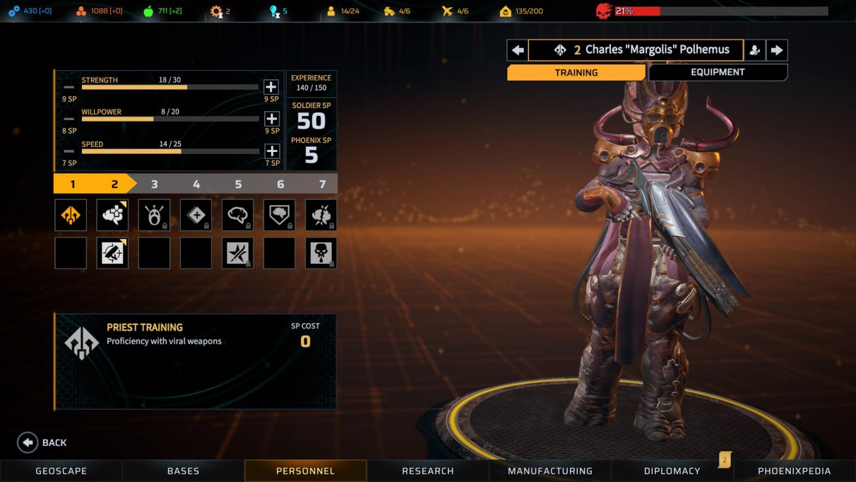 Phoenix Point Priest Class