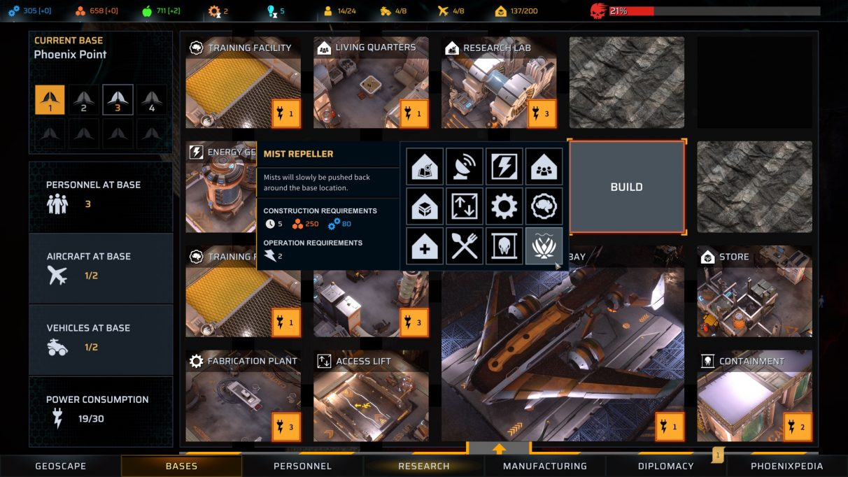 Phoenix Point best structures to build