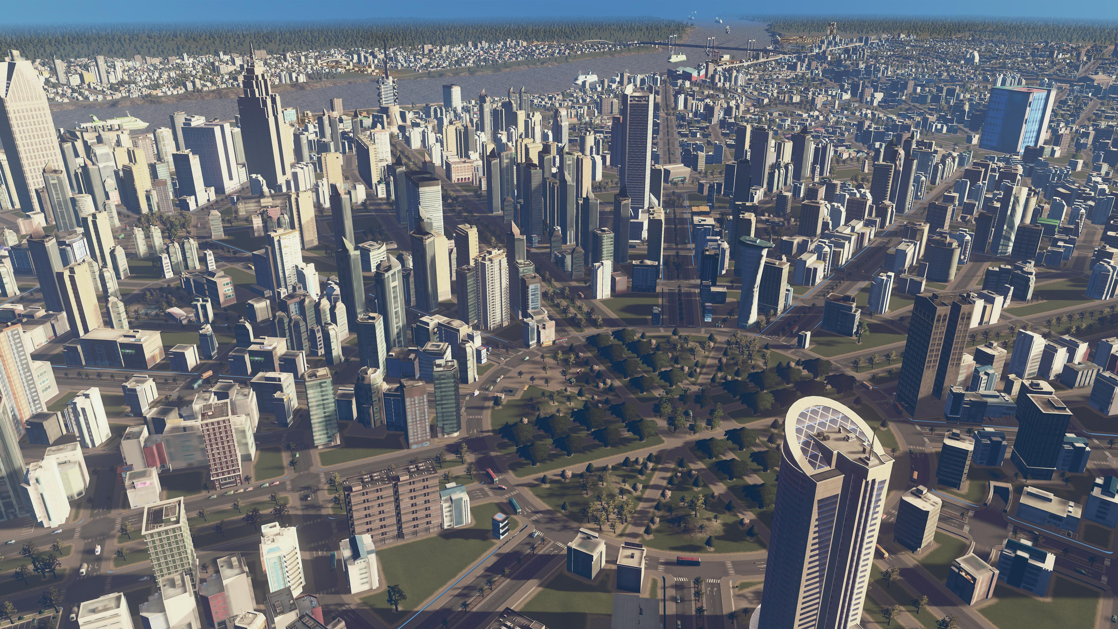 This Cities Skylines Build Recreates The Honeycomb Detroit That Could Have Been Rock Paper Shotgun