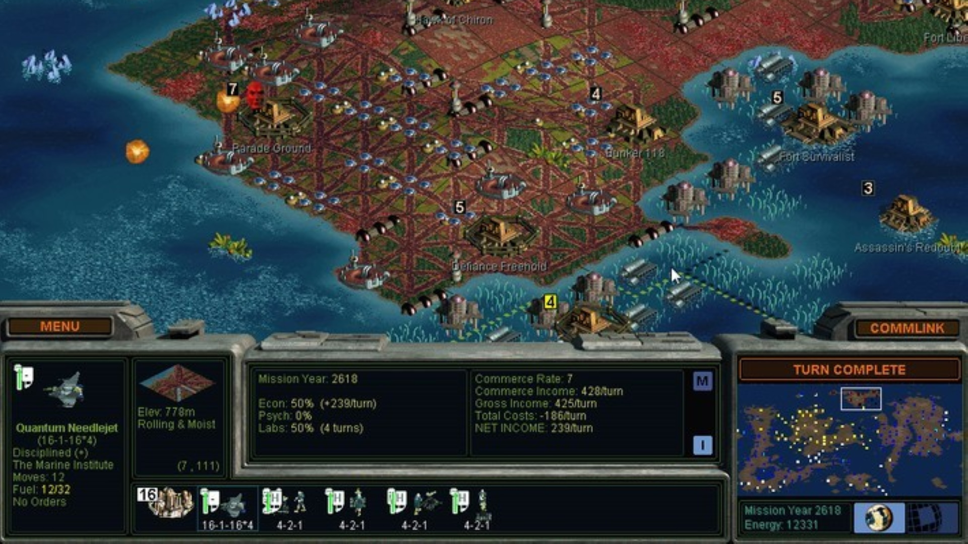 A screenshot of Alpha Centauri.