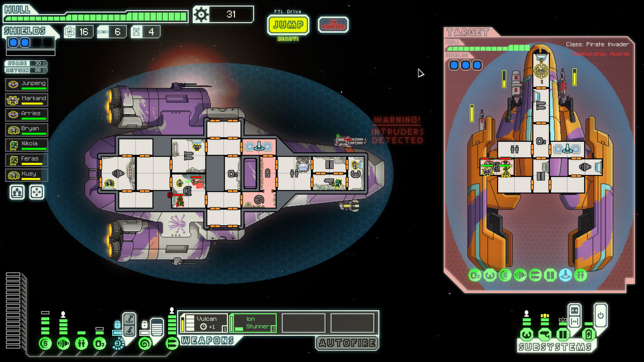 A screenshot of your ship in FTL: Faster Than Light.