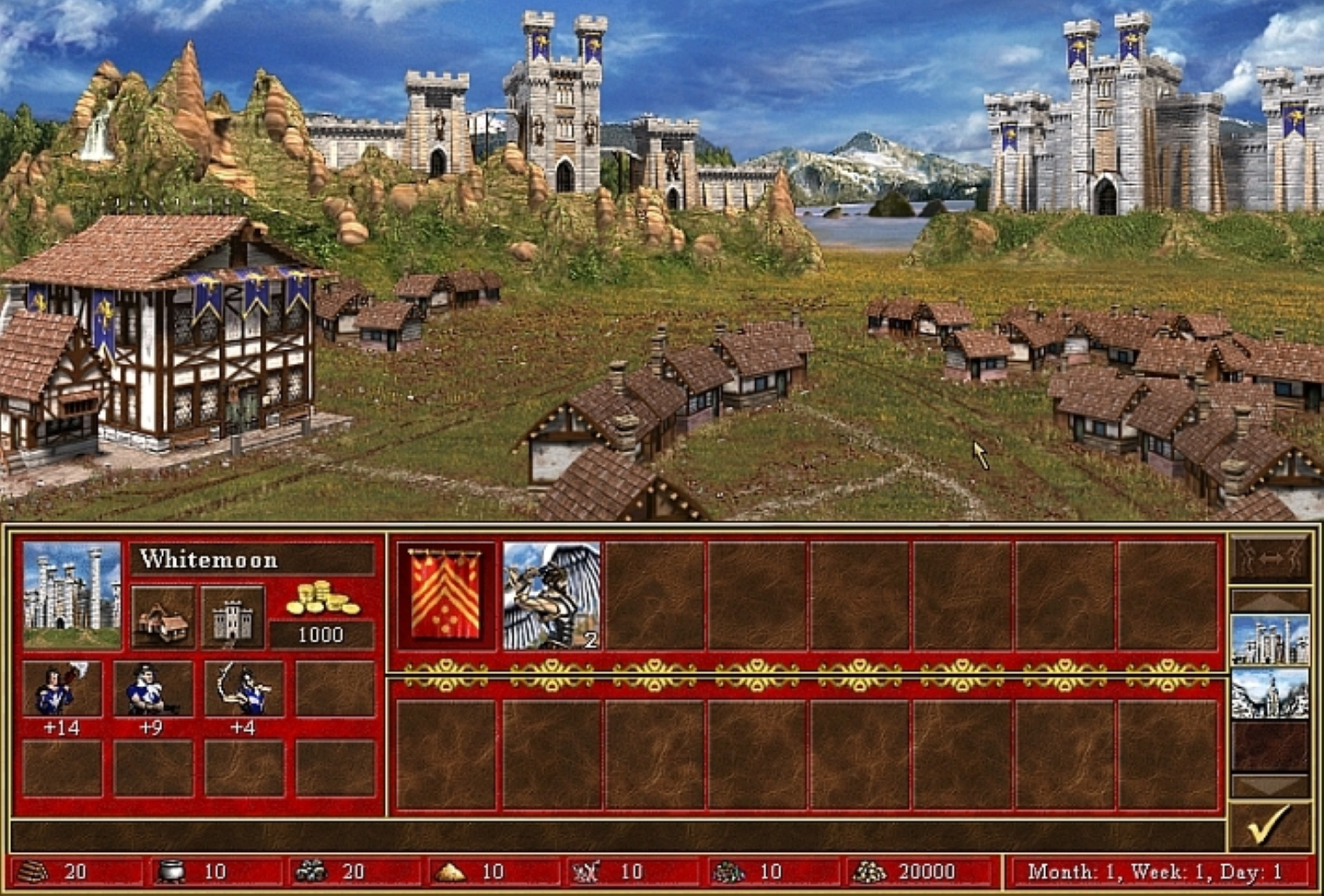 A screenshot of Heroes Of Might And Magic III.