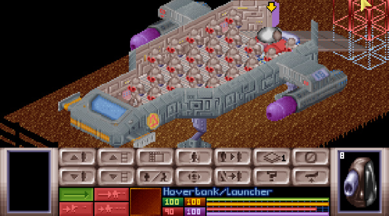 A screenshot of OpenXcom.