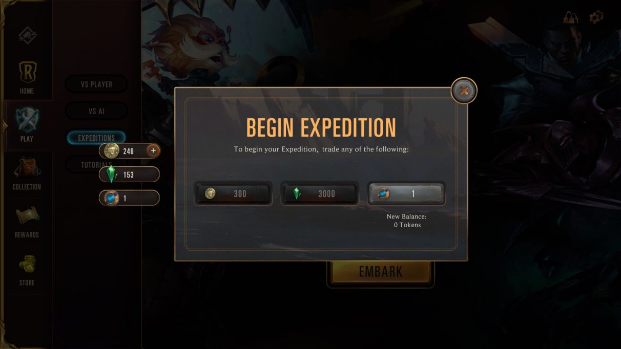 Runeterra expedition cost
