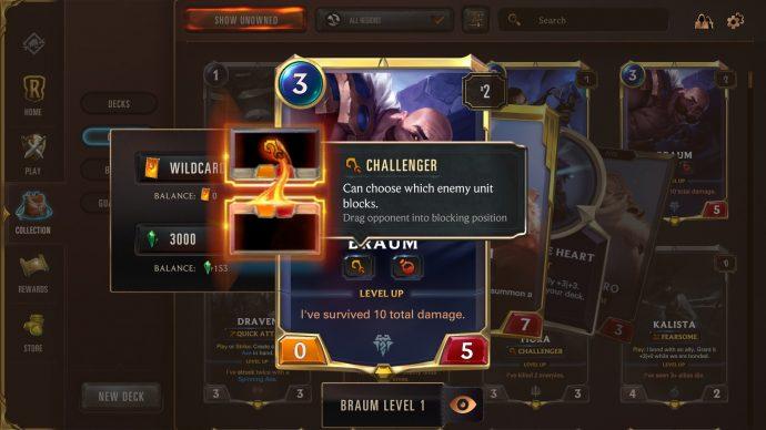 Runeterra keyword Challenger
