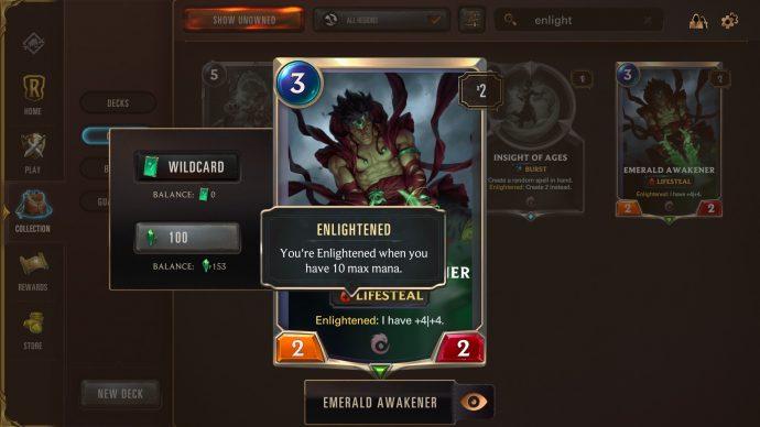 Runeterra keyword Enlightened