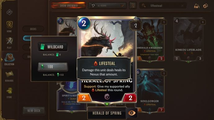Runeterra keyword Lifesteal