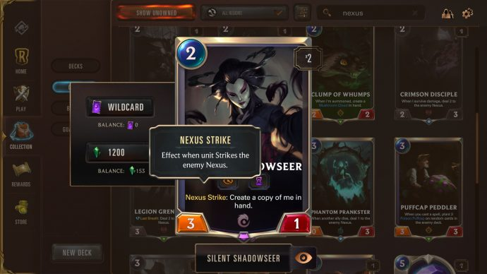 Runeterra keyword Nexus strike