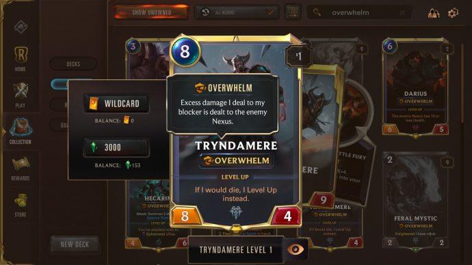 Runeterra keyword Overwhelm