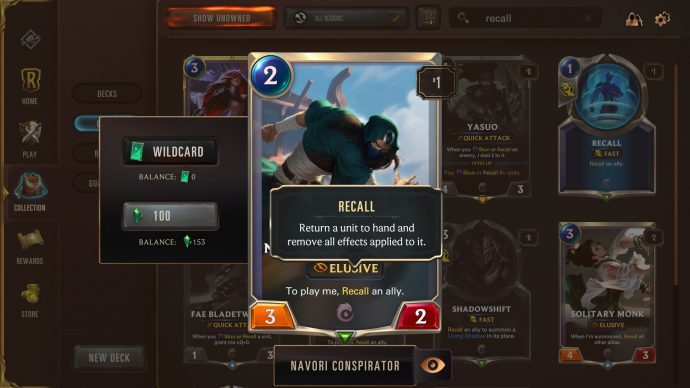 Runeterra keyword Recall