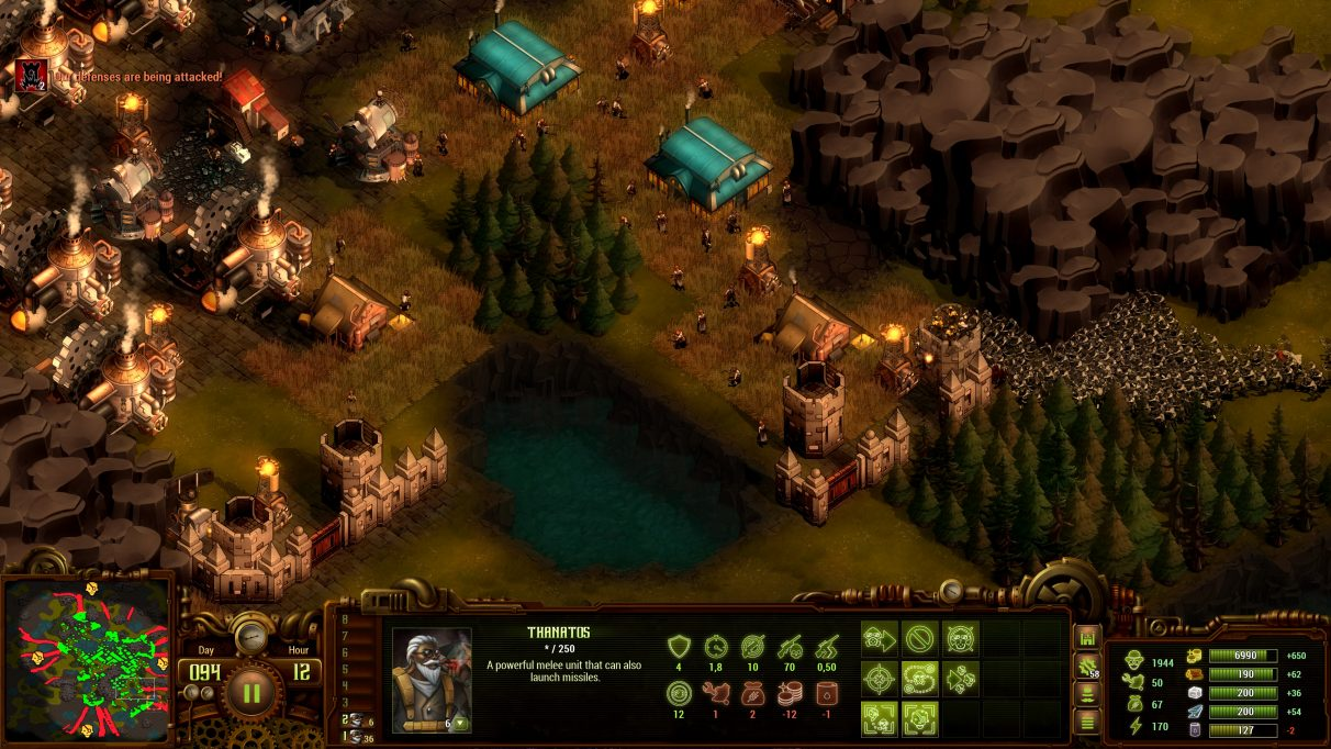 A screenshot of a zombie invasion in They Are Billions.