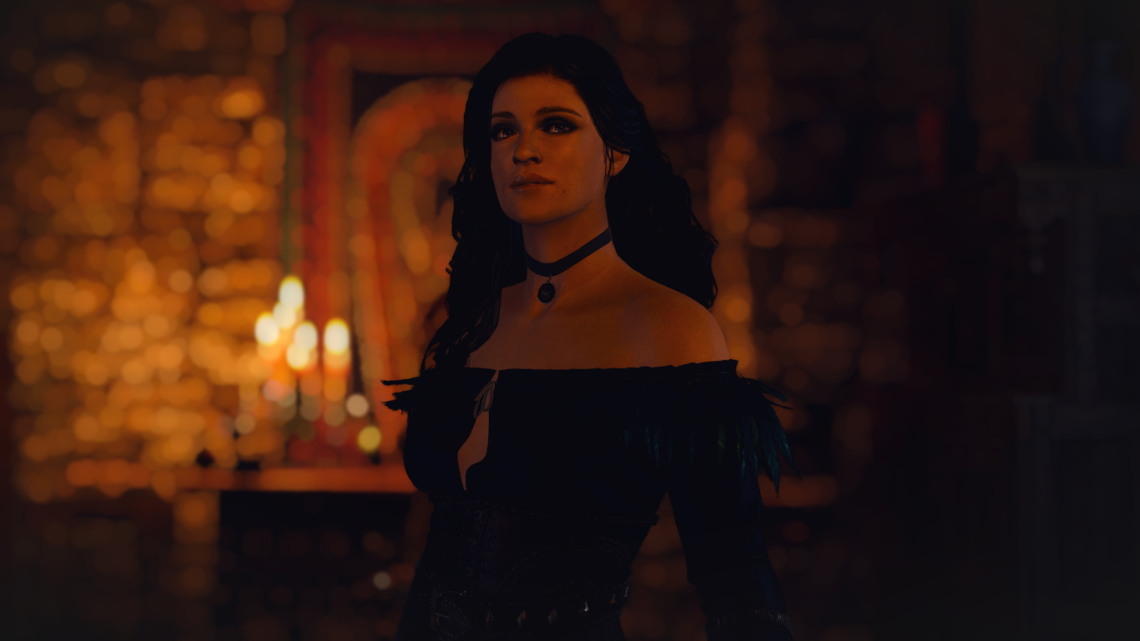 That moody medieval lighting is a good vibe for this Sorceress's makeover