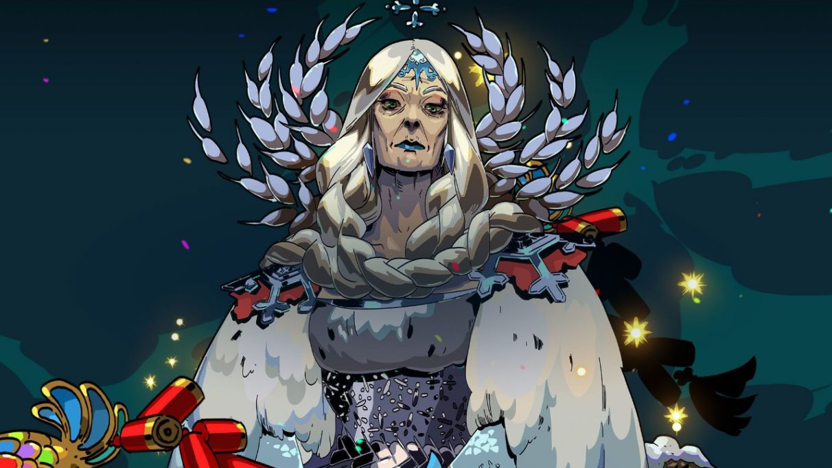 Official art of Demeter, one of the Olympians who offers you their Boons throughout each run of Hades.