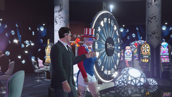 A screenshot of a casino from GTA Online.