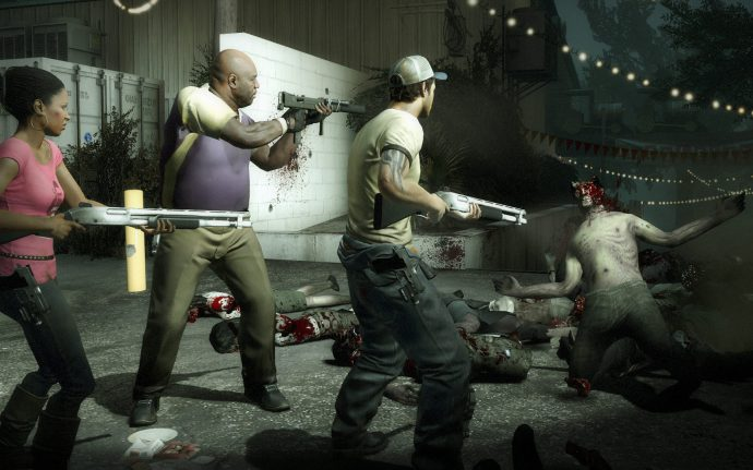 A screenshot of three of the protagonists from Left 4 Dead 2, an enduring co-op classic.