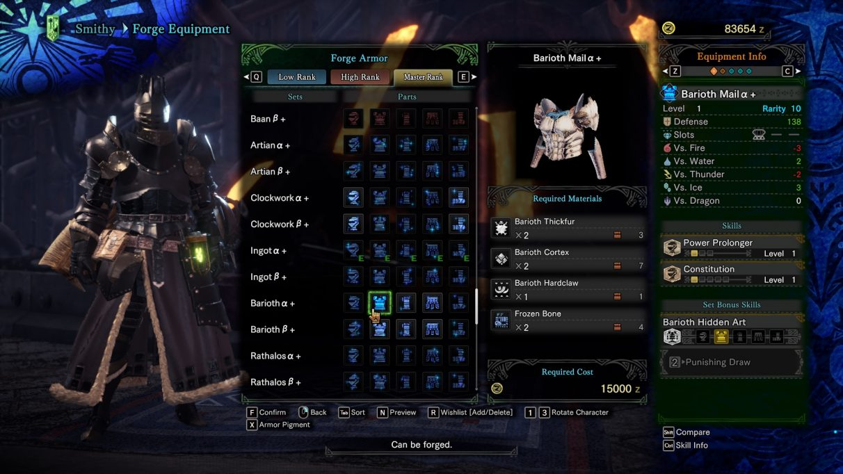 Monster Hunter World Iceborne Armor Smithy