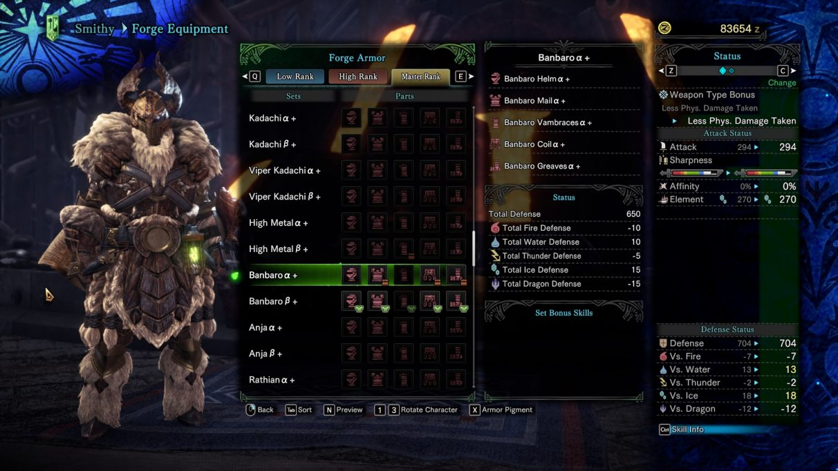 Monster Hunter World Iceborne banbaro Beta Armor