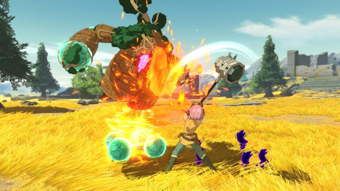 A screenshot of a battle scene from Ni no Kuni 2: Revenant Kingdom