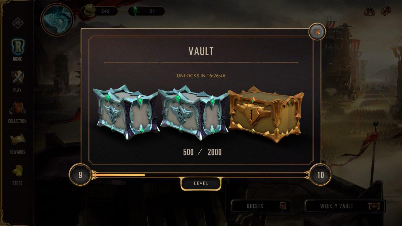 Runeterra weekly vault