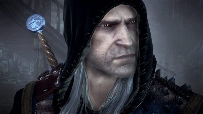 A screenshot of Geralt from The Witcher 2: Assassin Of Kings.