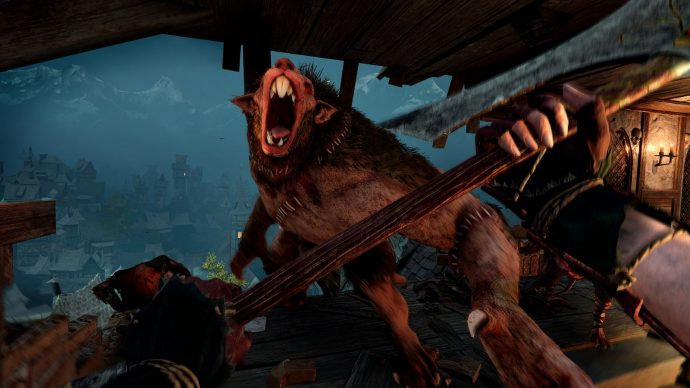A screenshot of a screaming rat lad from Warhammer Vermintide 2.