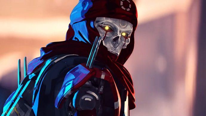 A screenshot of Revenant's face from an Apex Legends trailer.