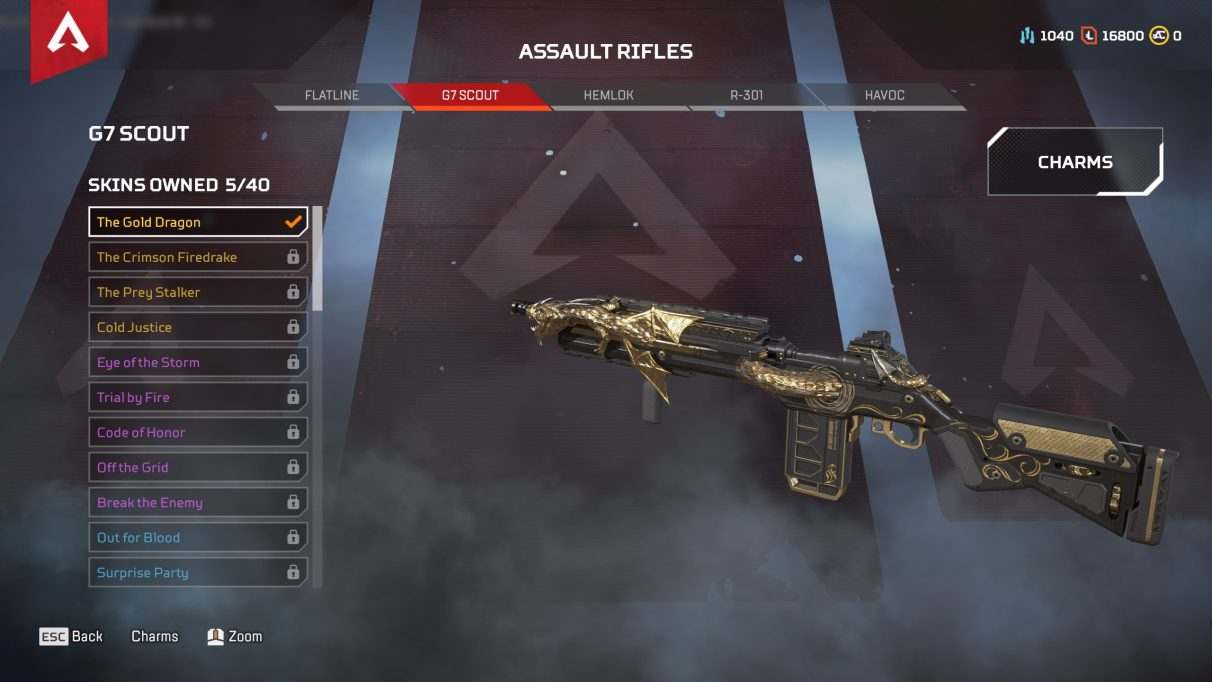 Apex Legends Season 4 update - G7 Scout