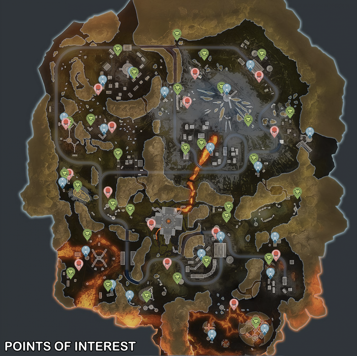 Apex Legends Season 4 map - Points of Interest