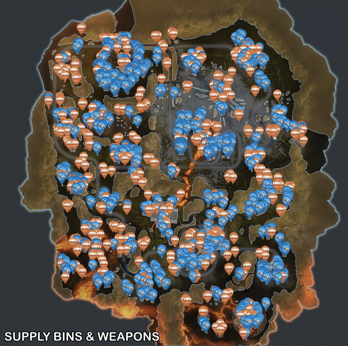 Apex Legends Season 4 map - Supply Bins & Weapons